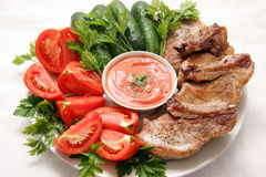 Vlees en groenten. Royalty-vrije Stock Fotografie