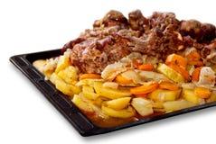 Vlees en groenten royalty-vrije stock foto