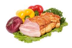 Vlees en groenten Stock Foto's