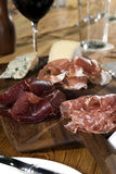 Vlees en Kazen 2 Stock Afbeelding
