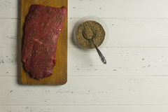 Vlees en Kruiden Stock Foto's