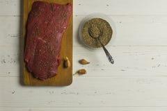 Vlees en Kruiden Royalty-vrije Stock Foto's