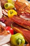 Vlees en peper Stock Foto's