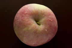 Vlees en Sappig Rood Apple Stock Afbeelding