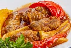 Vlees en verse groenten Stock Afbeelding
