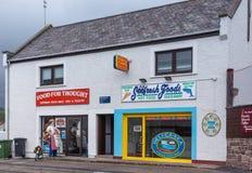 Vlees en Vissenopslag in Ullapool, Schotland Royalty-vrije Stock Fotografie