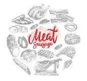 Vlees en Worstenproducten om Concept Stock Fotografie