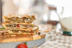 Vlees gebakken varkensvleescake Stock Afbeelding