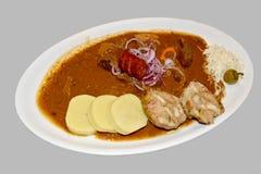 Vlees gestoofde producten met groenten en knodels Royalty-vrije Stock Foto