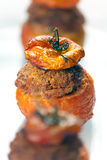 Vlees Gevulde Tomaten Stock Afbeelding