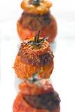 Vlees Gevulde Tomaten Stock Foto's