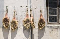 Vlees het drogen Royalty-vrije Stock Afbeeldingen