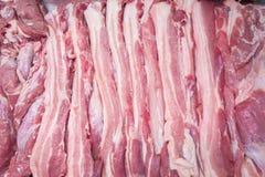 Vlees in markt Royalty-vrije Stock Afbeelding