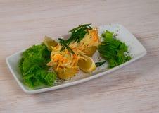 Vlees met citroen Royalty-vrije Stock Afbeeldingen