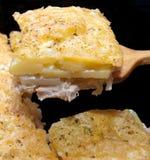 Vlees met een aardappel Royalty-vrije Stock Foto's