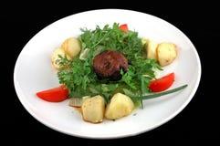 Vlees met een aardappel en een venkel Royalty-vrije Stock Fotografie