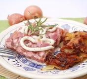 Vlees met gelei royalty-vrije stock foto