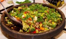 Vlees met groenten Royalty-vrije Stock Foto's