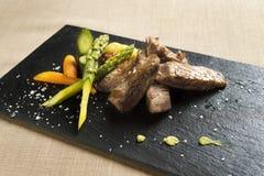 Vlees met groenten Stock Foto