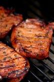 Vlees op BBQ Stock Foto