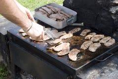 Vlees op de barbecue Stock Fotografie