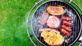 Vlees op de barbecue Stock Foto