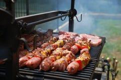 Vlees op de grill royalty-vrije stock foto