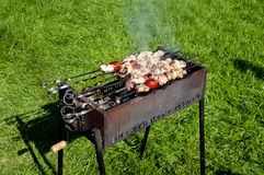 Vlees op de grill Royalty-vrije Stock Afbeelding