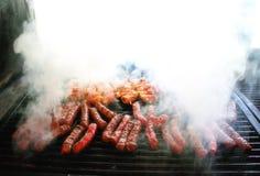 Vlees op de grill Stock Fotografie