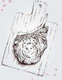Vlees op een houten raad vector illustratie