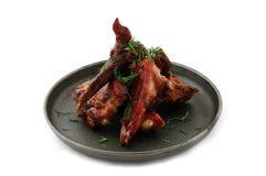 Vlees op een pan Royalty-vrije Stock Afbeeldingen