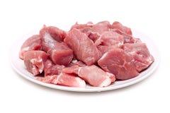 Vlees op plaat Stock Foto