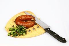 Vlees op plaat Royalty-vrije Stock Afbeelding