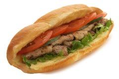 Vlees sadwich Stock Afbeeldingen