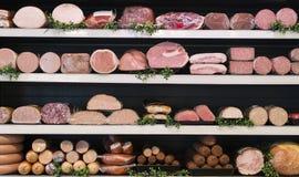 Vlees in slager Stock Afbeelding