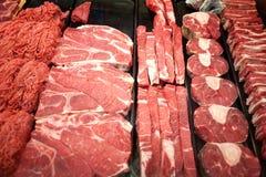 Vlees voor verkoop royalty-vrije stock afbeelding