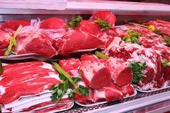 Vleesafdeling Stock Fotografie