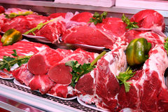 Vleesafdeling royalty-vrije stock foto