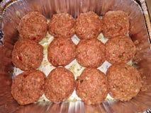 vleesballetjes stock foto's