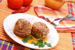 Vleesballetjes Stock Fotografie