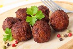 Vleesballetjes stock foto