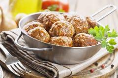 vleesballetjes Royalty-vrije Stock Afbeeldingen