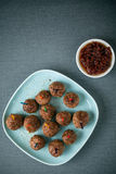 Vleesballetjes en smakelijke onderdompeling voor voorgerechten Royalty-vrije Stock Afbeeldingen