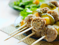 Vleesballetjes kebab Royalty-vrije Stock Afbeelding