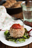 Vleesballetjes met saus Stock Fotografie