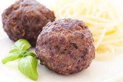 Vleesballetjes met Spaghetti Royalty-vrije Stock Fotografie