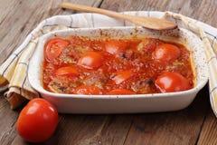 Vleesballetjes met tomaat royalty-vrije stock foto