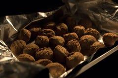 Vleesballetjes op baksel worden voorbereid dat Royalty-vrije Stock Afbeelding