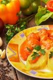 Vleesballetjes in tomatensaus Royalty-vrije Stock Foto