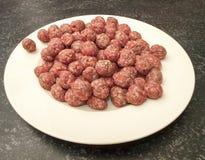 Vleesballetjes voor de soep Stock Afbeelding